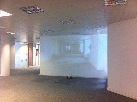 Kelise Franclemont, Installation view of 'Dreams of the Rat Race (No Exit)', 2014, projected digital video, 2:23 mins (looped). Photo credit Kelise Franclemont.