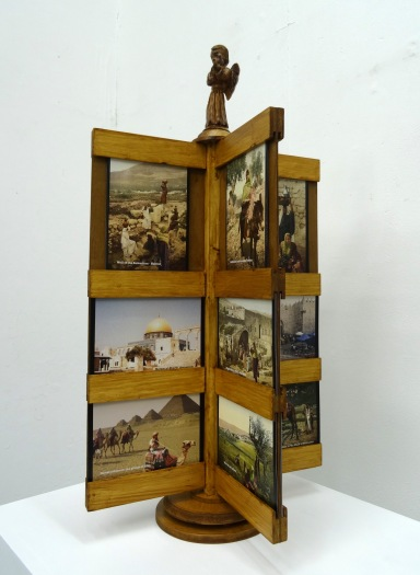 Kelise Franclemont, 'Postcards from the land of no people', 2015, printed cards in a wooden rack.