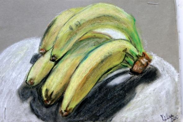 Kelise Franclemont, 'bananas', 2009, pastel on paper. Image courtesy the artist.