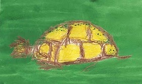 Kelise Franclemont, 'turtle', 1978, ink and wax crayon on paper. Image courtesy the artist.