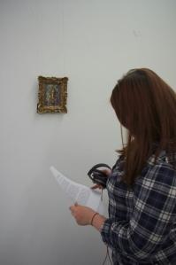 Kelise Franclemont 'Internet killed the gallery star', 2012, postcard print on paper. Photo credit Dominic Head.