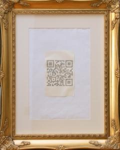 Kelise Franclemont, 'QRitique', 2012, hand-drawing QR code on paper, framed. Image courtesy the artist.