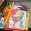 04 March 2017 #SaturdaySecret 'We don't stop playing because we grow old; we grow old because we stop playing'.-George Bernard Shaw #365LoveNotesToSelf Day 19, Crayola crayon on printed page