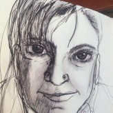 21 March 2017 #TravelTuesday Above all, be true to yourself, and if you cannot put your heart in it, take yourself out of it.-Unknown #365LoveNotesToSelf Day 36, ink on paper #arttherapy #self portrait