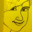 12 April 2017 #WednesdayWisdom Search not for happiness outside yourself, for nothing could be further from the truth.-Eric Micha'el Leventhal #365LoveNotesToSelf Day 58, charcoal on paper (yellow)