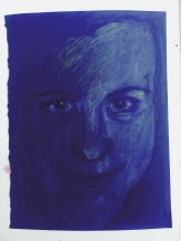 15 April 217 #SaturdaySecret Self-talk reflects your innermost feelings.-Asa Don Brown #365LoveNotesToSelf Day 62, coloured pencil on paper (indigo)