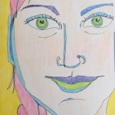28 April 2017 If your eyes are fixed on the rear-view mirror, you'll miss that important turn coming up.-Richard Branson Day 74, coloured pencil on paper