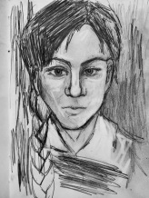 2 June 2017 Me as Pablo Picasso c. 1900 age 19 #365LoveNotesToSelf Day 109, graphite on paper 2017