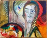 "A newly-discovered Fauv-ourite painter ;) Me as ""radical Swiss painter"" Alice Bailly 1917 #365LoveNotesToSelf Day 128, oil on canvas"