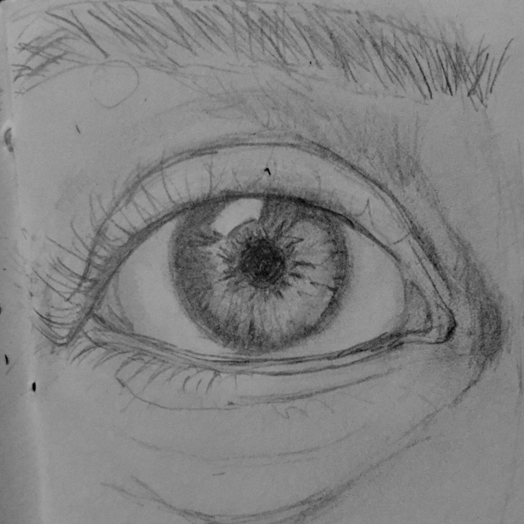 My eye #365LoveNotesToSelf Day 150 graphite on paper