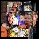 Me as David Hockney 'joiner' self-portrait 1970-1986 #365LoveNotesToSelf Day 142, digital photo montage