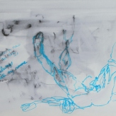 Me as Tracey Emin's 'Something's Terribly Wrong' 1997 #365LoveNotesToSelf Day 141 ink