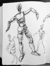 #WooHooWednesday #todaysmood I may be a wooden mannequin but at least I've got my dancing feet on... #365LoveNotesToSelf Day 168 ink