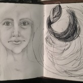 Boy-howdy, sure is windy today...wait, no, it's Thursday... gosh me too, let's get a drink! #365LoveNotesToSelf Day 169 graphite and ink
