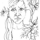 #dontwateryourweeds if they're bad ideas trynna grow between your ears #365LoveNotesToSelf Day 156 ink #selfportrait