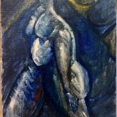 #MondayMotivation alarm, shower, dress, coffee, commute, eat, sleep, repeat #365LoveNotesToSelf Day 160 oil on canvas scrap