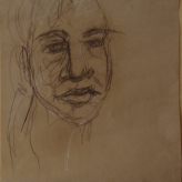 #MondayMotivation I have not failed. I've just found 10,000 ways that won't work. Thomas A. Edison #365LoveNotesToSelf Day 315 conte and compressed charcoal on brown packing paper